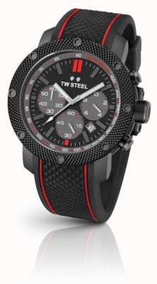TW Steel Mens Steel Tech Black Chronograph TS6