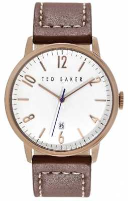 Ted Baker 42mm Rg Case Wht Dial TE1121