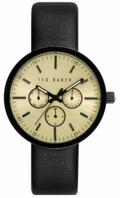 Ted Baker Mens 42mm Case With Gold Dial TE10026555