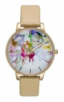 Ted Baker Ladies With Floral Face and Cream Strap TE10026453