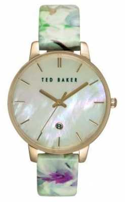 Ted Baker Womens Green Floral Leather Strap TE10030546
