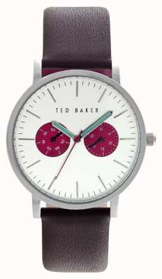 Ted Baker Mens 40mm Stainless Steel Silver Dial Red Subdials TE10024788