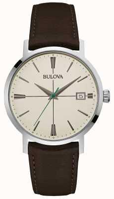 Bulova Men's Aerojet Brown Leather Strap 96B242
