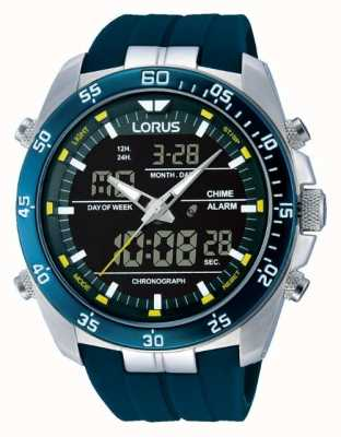 Lorus Mens Digital Alarm Stainless Steel RW617AX9