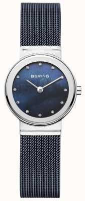 Bering Womans Navy Strap Navy Dial Minimalist 10126-307