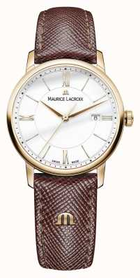 Maurice Lacroix Eliros Womens White Dial Brown Leather Strap EL1094-PVP01-111-1