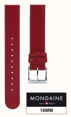 Mondaine Genuine Leather Womens Red Strap Only 16mm FE311630Q