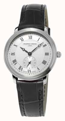Frederique Constant Slimline Womens Black Leather Strap Ultra Slim FC-235M1S6