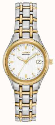 Citizen Silhouette Womens Two Tone Stainless Steel EW1264-50A