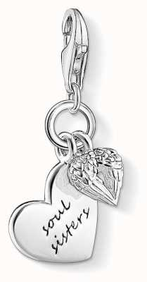 Thomas Sabo Soul Sisters Charm 925 Sterling Silver 1316-001-12