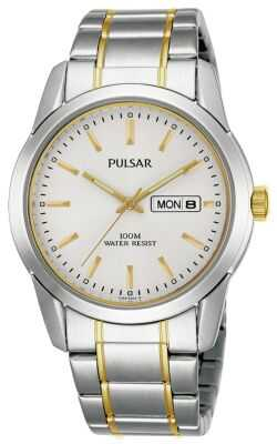 Pulsar Men's Quartz Dual Tone Watch PJ6023X1