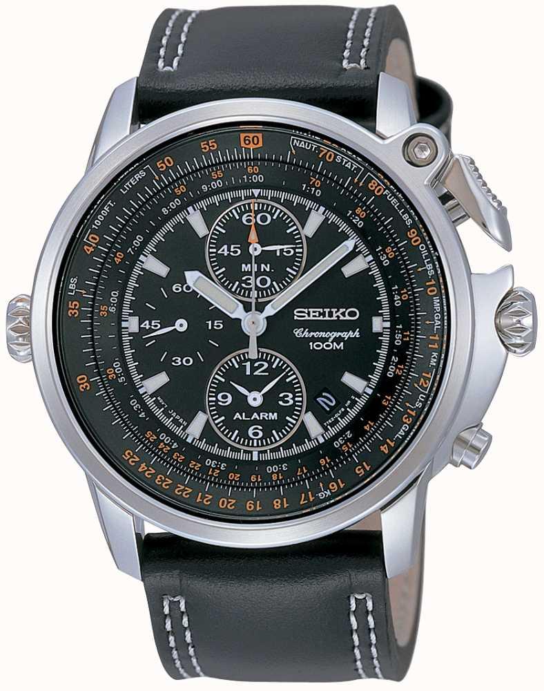 Seiko Mens Chronograph Pilot Watch Snab73p1