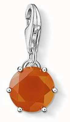 Thomas Sabo January Charm Red 925 Sterling Silver/ Agate 1254-130-10