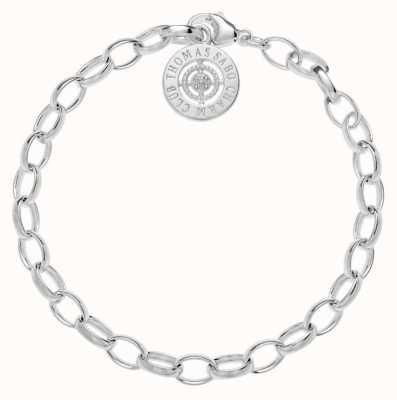 Thomas Sabo Bracelet 18.5cm Charm Carrier White 925 Sterling Silver/ White Diamond DCX0001-725-14-M