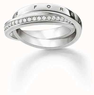 Thomas Sabo Ring White 925 Sterling Silver/ Zirconia TR2099-051-14-54