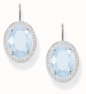 Thomas Sabo Womans Oval Aqua Earrings H1844-694-31