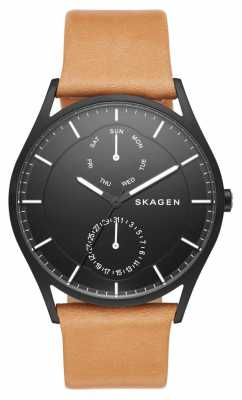 Skagen Mens Black Face Holst Watch SKW6265