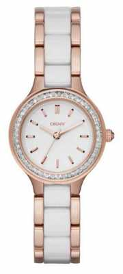 DKNY Chambers White Ceramic And Rose Gold NY2496