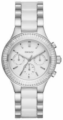 DKNY Chronograph White Ceramic Chambers NY2497