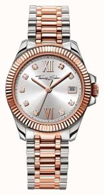 Thomas Sabo Womans Stainless Steel Strap Silver Dial WA0219-272-201-33