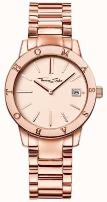 Thomas Sabo Women's Rose Gold Coloured Dial Stainless Steel WA0175-265-208-33