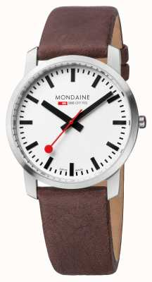 Mondaine Mens Simply Elegant Brown Leather Watch A638.30350.11SBG