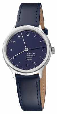 Mondaine Helvetica No1 Bleu Marine 33mm Regular MH1.R1240.LD