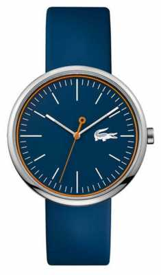 Lacoste Mens Blue Rubber Strap Round Blue Dial 2010863
