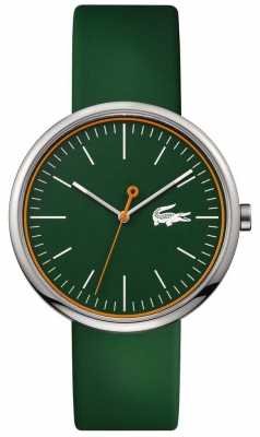 Lacoste Mens Green Rubber Strap Round Green Dial 2010864
