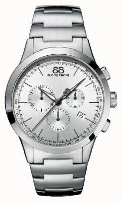 88 Rue du Rhone Mens Chronograph Stainless Steel Silver Dial 87WA154308