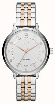 Armani Exchange Womens Two Tone Stainles Steel Silver Dial AX5370