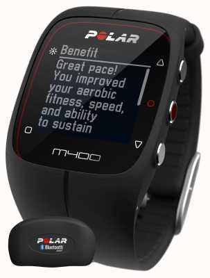 Polar Unisex M400 Bluetooth GPS (Black with HR) Activity Tracker 90051341