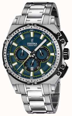 Festina 2016 Chronobike Mens Chronograph Watch Blue Dial F16968/3