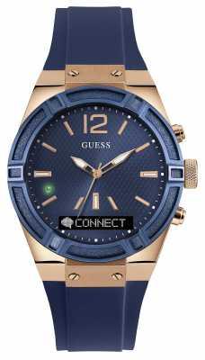 Guess CONNECT Unisex Blue Rubber Strap Smart Watch C0002M1