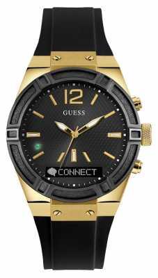 Guess CONNECT Unisex Black Rubber Strap Smart Watch C0002M3