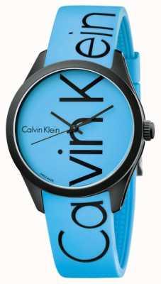Calvin Klein Unisex Color Blue Silicone Black Logo K5E51TVN