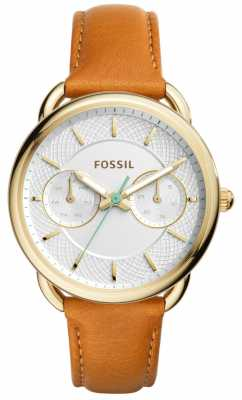 Fossil Womens Tailor Tan Leather Strap ES4006