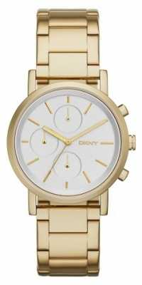 DKNY Womans Chronograph White Dial Gold Strap NY2274