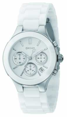 DKNY Womans White Chronograph Dial White Strap NY4912