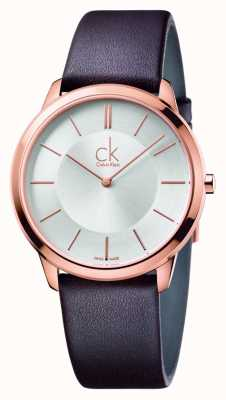 Calvin Klein Women's Minimal Brown Leather Strap K3M216G6
