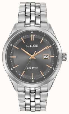 Citizen Mens Stainless Steel Bracelet Grey Dial BM7251-53H
