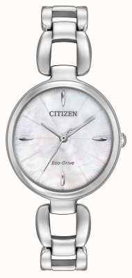 Citizen Womens Stainless Steel Bracelet Mother Of Pearl Dial EM0420-54D