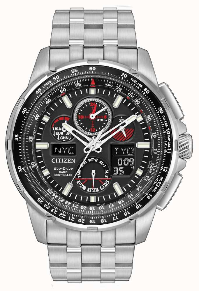 orologi products citizen atomic global chronograph skyhawk flight watch at watches