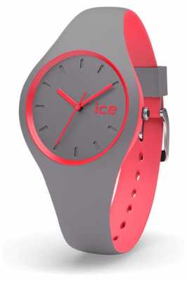 Ice-Watch Unisex Duo Grey Coral Grey Silicone Strap DUO.DCO.S.S.16