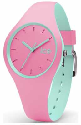 Ice-Watch Womans Duo Pink Mint Pink Silicone Strap DUO.PMT.S.S.16