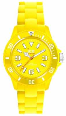 Ice-Watch Unisex Yellow Silicone Strap Yellow Dial SI.YW.U.S.12