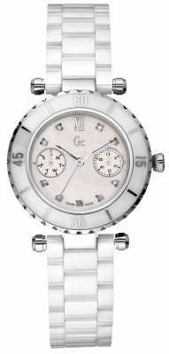 Gc Womens Diver Chic Diamond White Ceramic I46003L1