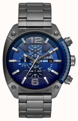 Diesel Mens Stainless Steel Strap Blue Chronograph Dial DZ4412