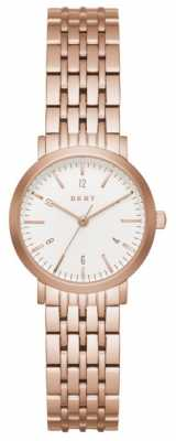 DKNY Womans Rose Gold Plated Stainless Steel Mesh Strap NY2511