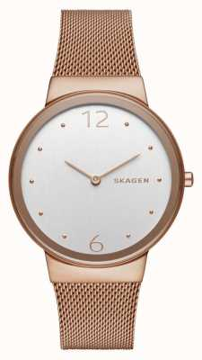 Skagen Womans Freja Rose Gold Plated Watch SKW2518